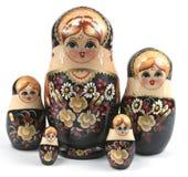 Matryoshka family. Matryoshka (Russian pregnant doll) family, a traditional russian toy stock photos