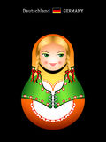 Matryoshka german girl Royalty Free Stock Photo