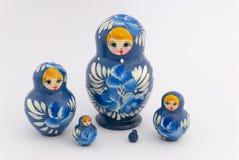 Matryoshka isolated on white background. Russian nesting dolls ( babushkas or matryoshkas ) on white background Stock Photo