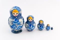 Matryoshka isolated on white background. Russian nesting dolls ( babushkas or matryoshkas ) on white background Stock Images