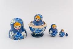 Matryoshka isolated on white background. Russian nesting dolls ( babushkas or matryoshkas ) on white background Stock Photography