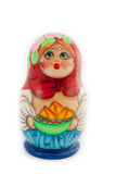 Matryoshka isolated on white background. Russian nesting dolls ( babushkas or matryoshkas ) on white background Royalty Free Stock Photo