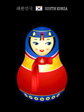 Matryoshka korean girl Royalty Free Stock Image