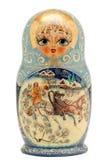 Matryoshka lala odizolowywająca na bielu Obraz Royalty Free