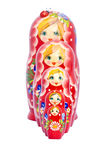 Matryoshka line Stock Photo