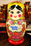Matryoshka with logo of Sochi 2014 Olympic games Stock Image