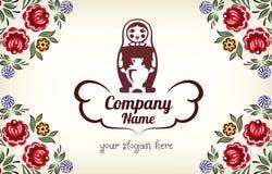 Matryoshka Logotipo ruso de la muñeca para la compañía Imágenes de archivo libres de regalías