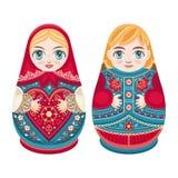 Matryoshka Muñeca popular rusa de la jerarquización Imagenes de archivo