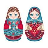 Matryoshka Muñeca popular rusa de la jerarquización Foto de archivo libre de regalías