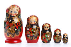Matryoshka - muñecas jerarquizadas rusas Fotografía de archivo