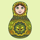 Matryoshka niché traditionnel russe de poupée Photos libres de droits