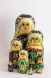 Matryoshka - o russo aninhou bonecas Imagens de Stock