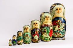 Matryoshka - o russo aninhou bonecas Imagem de Stock