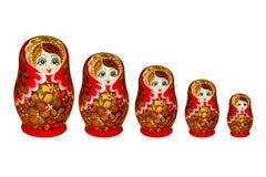 Matryoshka op een witte achtergrond Stock Foto