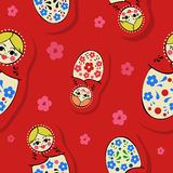 Matryoshka pattern royalty free stock photo