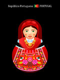 Matryoshka Portugal Royalty Free Stock Images