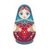 Matryoshka Poupée folklorique russe d'emboîtement Image libre de droits