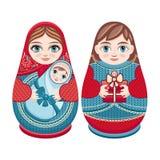 Matryoshka Poupée folklorique russe d'emboîtement Images stock