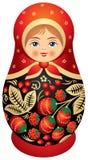 Matryoshka Puppe in der Khokhloma Art Lizenzfreies Stockfoto