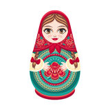 Matryoshka Rosyjska ludowa gniazdować lala Zdjęcia Stock