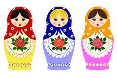 Matryoshka ruso tradicional ilustración del vector