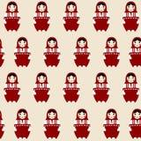 Matryoshka russian doll. Pattern with Matryoshka russian doll Royalty Free Stock Photos