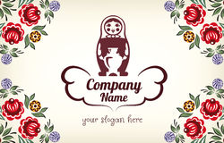 Matryoshka. Russian doll logo for company Royalty Free Stock Images
