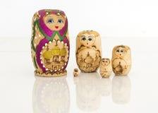 Matryoshka russian doll set Royalty Free Stock Images