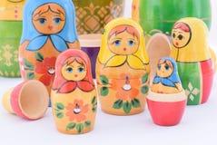 Matryoshka. Russian doll are wooden matryoshka Stock Photos