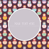 Matryoshka Russian dolls background with text message space - vector illustration Royalty Free Stock Images