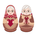 Matryoshka. Russian folk nesting doll. Stock Photography