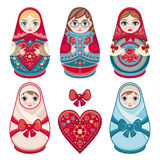 Matryoshka. Russian folk nesting doll. Stock Images
