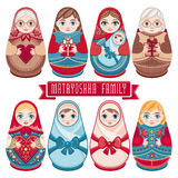 Matryoshka. Russian folk nesting doll. Royalty Free Stock Image