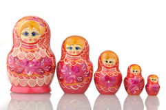 Matryoshka - A Russian Nested Dolls Stock Images