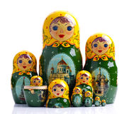 Matryoshka - Russian nested dolls Stock Photo