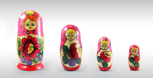 Matryoshka - Russian Nested Dolls. Russian toy comes out of each other Stock Photo