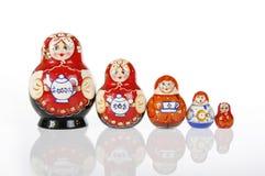 Matryoshka or Russian Nesting Doll. Matryoshka, babushka or souvenir from Russia stock photo