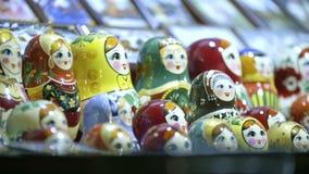 Matryoshka russian tradicional video estoque