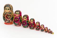 Matryoshka, russian wooden doll Royalty Free Stock Photos