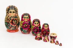 Matryoshka, russian wooden doll Royalty Free Stock Photos