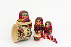 Matryoshka, russian wooden doll Stock Images
