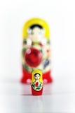 matryoshka Russische het nestelen pop Stock Afbeeldingen