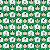 Matryoshka seamless pattern Stock Image