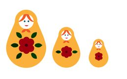 Matryoshka. Nesting doll, a set of dolls - souvenirs from Russia. Matryoshka, a set of dolls - souvenirs from Russia. Colored wooden dolls Stock Images