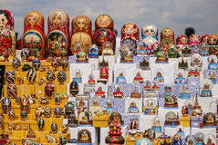 Matryoshka at souvenirs in front of Moscow University ,Russia Stock Image