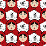 Matryoshka tile Stock Photo