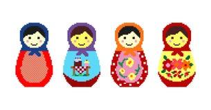 Matryoshka tradicional ruso Imagen de archivo libre de regalías