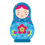 Matryoshka. Traditional russian nesting doll. Smiling Matreshka icon. Vector illustration Stock Image