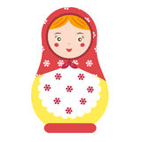 Matryoshka. Traditional russian nesting doll. Smiling Matreshka icon. Vector illustration Royalty Free Stock Photography