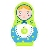 Matryoshka. Traditional russian nesting doll. Smiling Matreshka icon. Vector illustration Stock Photography